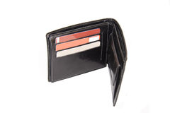 Pocketbook. Black pocketbook on white background Stock Image