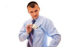 Pocketing Some Cash Stock Images