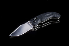 Pocketknife on a black background Stock Photo