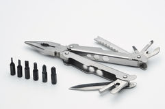 Pocketknife- och skruvmejseluppsättning arkivbild