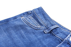 The pockets of denim pants. Stock Image