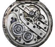 Pocketwatch Mechanism. Vintage pocket watch mechanism closeup Stock Image