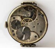 Pocketwatches meccanici d'annata del movimento a orologeria Fotografia Stock