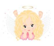 Poco ángel ilustración del vector