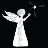 Poco ángel con una estrella Imagen de archivo
