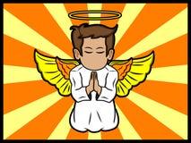 Poco ángel que ruega Imagen de archivo libre de regalías