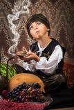Poco Aladdin con la lampada Immagine Stock Libera da Diritti