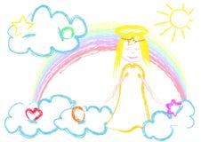 Poco angelo illustrazione di stock