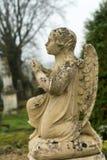 Poco angelo del cimitero Fotografia Stock