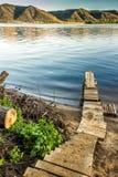 Poco bacino del fiume Fotografia Stock
