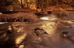 Poco baja río del color Imagenes de archivo