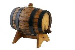 Poco barril de vino en una ayuda -2 Foto de archivo libre de regalías