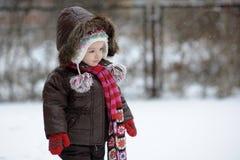 Poco bebé del invierno Imagen de archivo libre de regalías