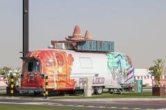 Poco blöd - ein mexikanischer Lebensmittel-LKW in Dubai Stockbilder