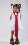 Poco businessgirl del Daddy Immagini Stock