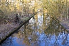 Poco canal, zanja del agua Foto de archivo libre de regalías