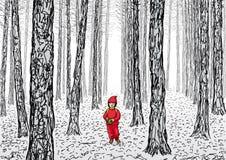Poco cappuccio di guida rosso Fotografia Stock