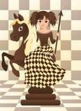Poco cavallo nero di scacchi Immagine Stock Libera da Diritti