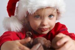 Poco chocolate Santa Fotos de archivo libres de regalías