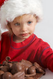 Poco chocolate Santa Foto de archivo libre de regalías