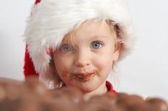 Poco cioccolato Santa Immagini Stock Libere da Diritti