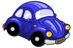 Poco coche azul foto de archivo