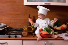 Poco cocina Foto de archivo libre de regalías