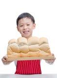 Poco cocinero asiático con pan imágenes de archivo libres de regalías