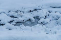 Poco corrente congelata Fotografia Stock Libera da Diritti