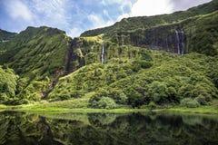 Poco da Ribeira do Ferreiro, Flores island, Azores, Portugal. Royalty Free Stock Photos
