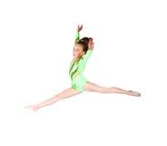 Poco danzatore di balletto salta Fotografie Stock