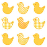Poco Duckies Fotografie Stock Libere da Diritti