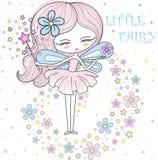 Poco ejemplo de hadas del vector de una primavera de hadas en colores en colores pastel libre illustration
