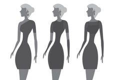 Poco ejemplo negro del vector de la moda del vestido Fotos de archivo libres de regalías