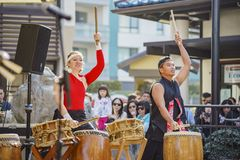 Poco evento de la música del Año Nuevo de Tokio Foto de archivo