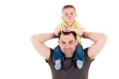 Poco fare da baby-sitter sul collo Fotografie Stock Libere da Diritti