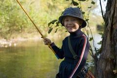 Poco fishman Fotografia Stock Libera da Diritti