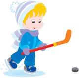 Poco giocatore di hockey Immagine Stock