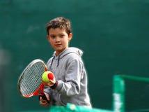 Poco giocatore di tennis Fotografia Stock Libera da Diritti