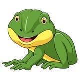 Poco historieta de la rana ilustración del vector