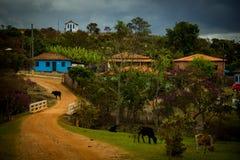 Poco iglesia de Capivari, distrito de Serro, Minas Gerais foto de archivo libre de regalías