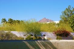 Poco jardín con gradas en Arizona foto de archivo