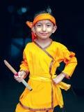 Poco Krishna-kanhaiya-retrato que sostiene la flauta disponible imágenes de archivo libres de regalías