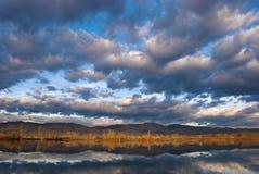 Poco lago en el borde de la pradera imagen de archivo