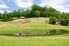 Poco lago en la Dordoña Foto de archivo libre de regalías
