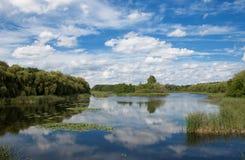 Poco lago (Kis Balaton) Fotografia Stock