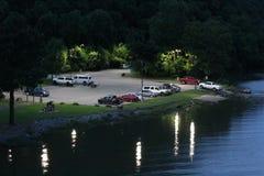 Poco lancio della barca di fiume di Maumelle Fotografie Stock Libere da Diritti
