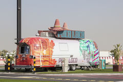Poco Loco - a Mexican Food Truck in Dubai Stock Images