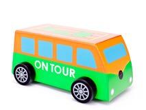 Poco omnibus de madera del juguete Imagen de archivo libre de regalías