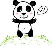 Poco panda linda del vector del dibujo del garabato Foto de archivo